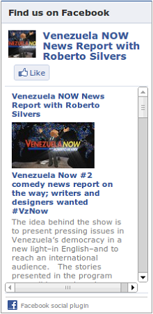 LIKE Venezuela Now on Facebook!